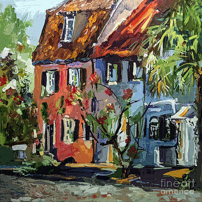 Pink House On Chalmers Street Charleston South Carolina Poster by Ginette Callaway