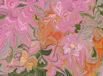 Poster featuring the painting Pink Jungle by Linda Whiteside
