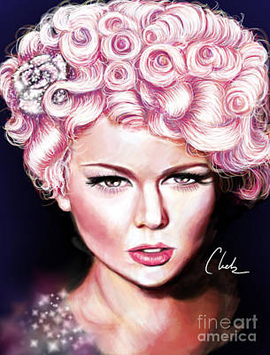 Pink Lady Poster by Chelsea Perez
