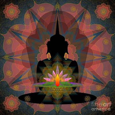 Pink Lotus Buddha Poster