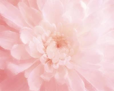 Pink Mum Luminous Painted Blossom Poster by Patricia E Sundik