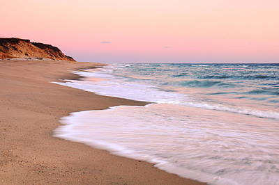 Pink Pastel Beach And Sky Poster by Roupen  Baker