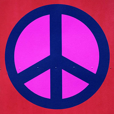 Pink Peace Symbol Poster