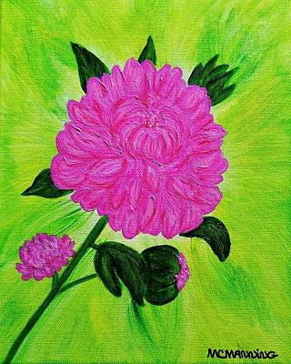 Pink Peony Poster by Celeste Manning