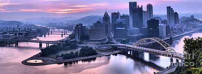 Pink Pittsburgh Morning Poster