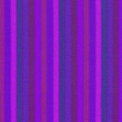 Pink Purple And Blue Striped Textile Background Poster by Keith Webber Jr