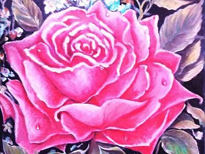 Pink Rose Poster by Yolanda Rodriguez