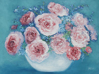 Pink Roses Poster by Jan Matson