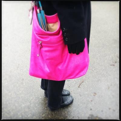 Pink Shoulder Bag Poster by Matthias Hauser
