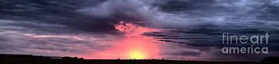 Pink Skies In Stanhope Poster