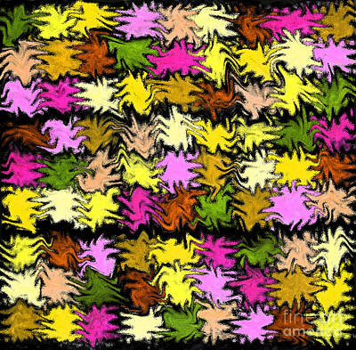 Pink Squiggle Quilt Abstract Poster