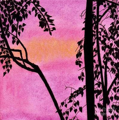 Poster featuring the drawing Pink Sky Sunset by D Hackett