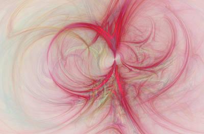 Pink Swirls Poster by David Ridley