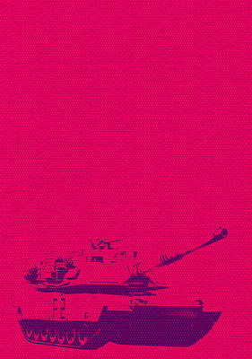 Poster featuring the mixed media Pink Tank by Michelle Dallocchio
