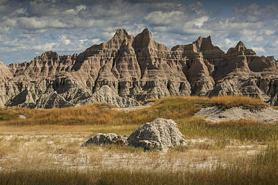 Pinnacles And Spires In The Badlands Poster