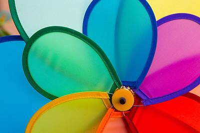 Pinwheel Rainbow Poster by Eti Reid