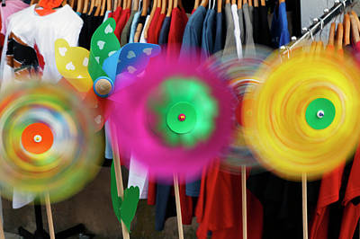 Pinwheels Rotating In Breeze, Southern Poster by Adam Jones