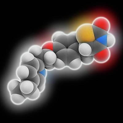 Pioglitazone Drug Molecule Poster