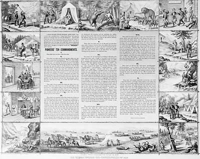 Pioneers' Ten Commandments Poster by Granger