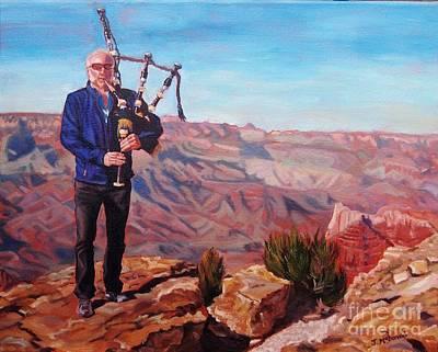 Piping At The Grand Canyon Poster by Janet McDonald