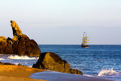 Pirate Ship In Cabo Poster