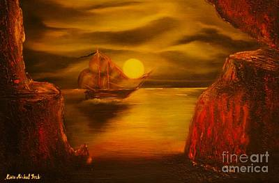 Pirates Cave- Original Sold - Buy Giclee Print Nr 27 Of Limited Edition Of 40 Prints  Poster