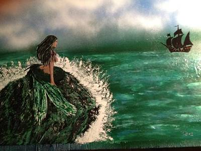 Poster featuring the painting Pirates Cove by Michael Rucker