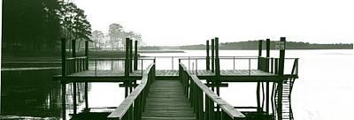 Pirate's Cove Pier In Monochrome Poster