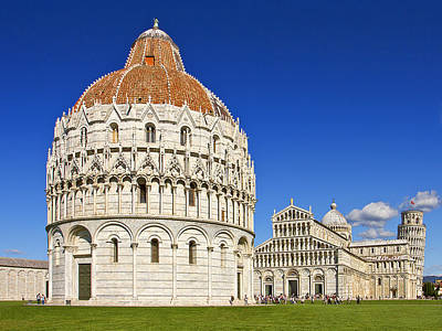 Poster featuring the photograph Pisa - Piazza Dei Miracoli by Kim Andelkovic