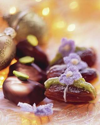 Pistachio Dates (dates Stuffed With Pistachio Marzipan) Poster