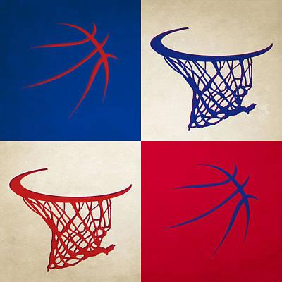 Pistons Ball And Hoop Poster by Joe Hamilton