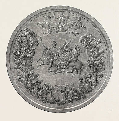 Pistruccis Great Waterloo Medal Reverse Poster by English School