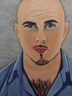 Pitbull The Singer Poster by Tammy Rekito