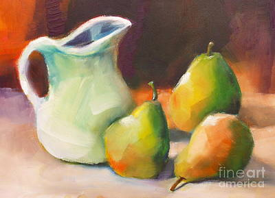 Pitcher And Pears Poster by Michelle Abrams
