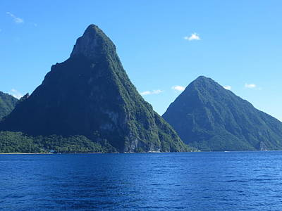 Pitons In St. Lucia Poster by Jean Marie Maggi