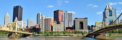Pittsburgh Panoramic Poster by Frozen in Time Fine Art Photography