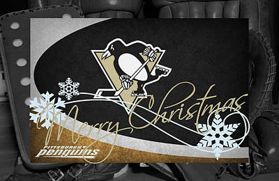 Pittsburgh Penguins Christmas Poster by Joe Hamilton