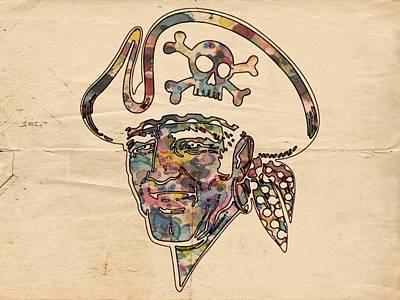 Pittsburgh Pirates Logo Vintage Poster by Florian Rodarte