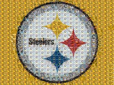 Pittsburgh Steelers Mosaic Logo Poster