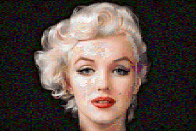 Pixelated Marilyn Poster