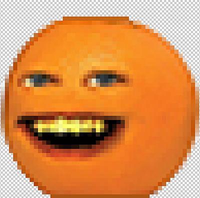 Pixeled Annoying Orange Poster