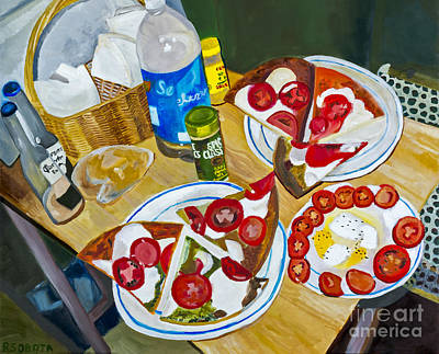 Pizza By Rachel Sobota Poster by Sheldon Kralstein