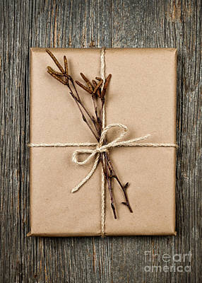 Plain Gift With Natural Decorations Poster