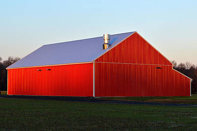 Poster featuring the photograph Plain Jane Red Barn by Bill Swartwout