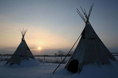 Poster featuring the photograph Plains Cree Tipi by Larry Trupp