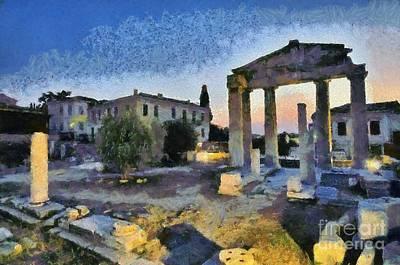 Plaka And Roman Market Poster by George Atsametakis