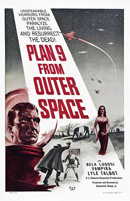 Plan 9 From Outer Space, Vampira, 1959 Poster by Everett