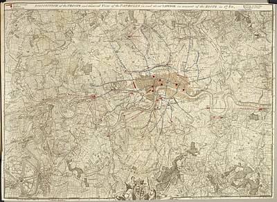 Plan Of Encampments In London Poster