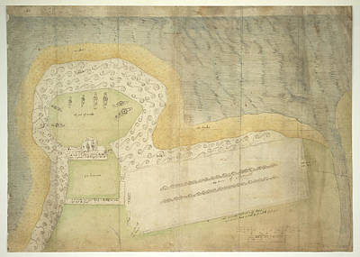 Plan Of Fort Point Poster