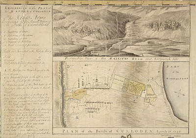 Plan Of The Battle Of Culloden Poster by British Library